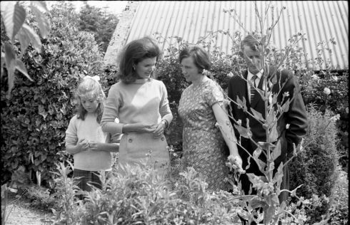 Jackie Kennedy during the 1967 visit. Photograph: Irishphotoarchive.ie