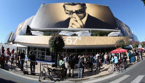 The Palais des Festivals on the first day of the 67th Annual Cannes Film Festival.  Photograph: Tim P Whitby/Getty Images