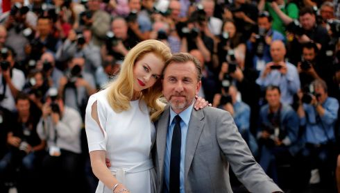 Cast members Nicole Kidman and Tim Roth pose during a photocall for the film Grace of Monaco. Photograph: Eric Gaillard/Reuters
