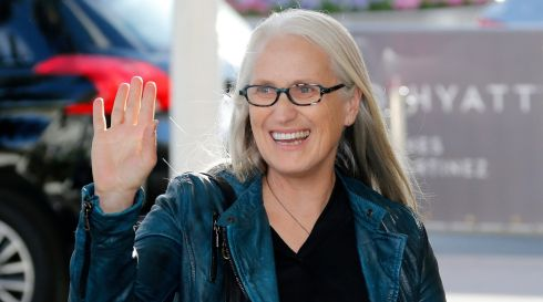 President of the Cannes competition jury, New Zealand film director Jane Campion, arrives at the Martinez Hotel ahead of the 67th Cannes festival. Photograph: Guillaume Horcajuelo/EPA