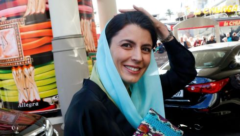 Jury member, Iranian actor Leila Hatami, arrives. Photograph: Yves Herman/Reuters