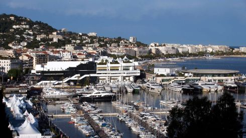 An overall look at what Cannes looks like. Exclusive, non? Photograph: Benoit Tessier/Reuters
