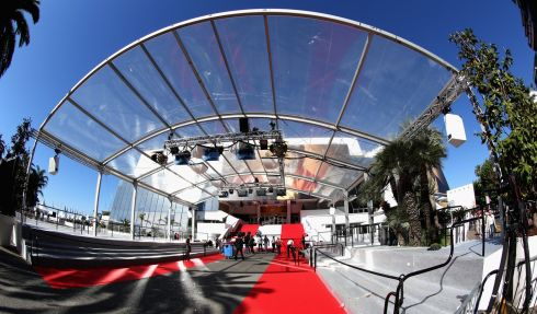 Getting ready at the Palais des Festivals.  Photograph: Tim P Whitby/Getty Images