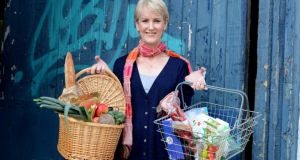 Catherine Cleary weighing up the  pros and cons of shopping in small shops and markets versus supermarkets. Photograph: Cyril Byrne