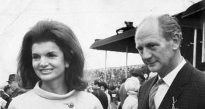 Jackie Kennedy, with then-taoiseach Jack Lynch, at the Irish Derby in the Curragh. Photograph: The Irish Times