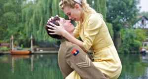 Caleb Landry Jones and Vanessa Kirby in 'Queen and Country'