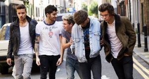 The only direction is up: Liam Payne, Zayn Malik, Niall Horan, Louis Tomlinson and Harry Styles
