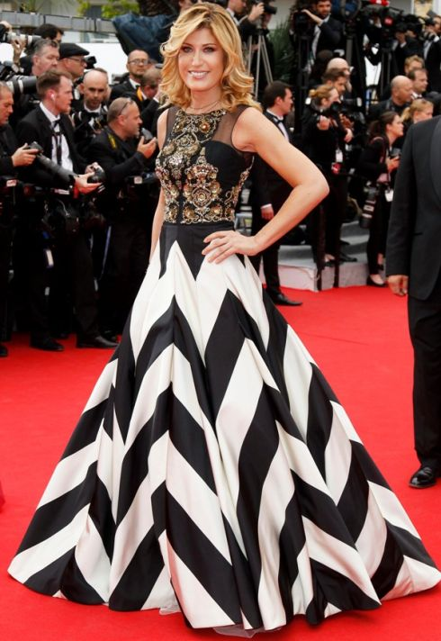 Italian actress Raffaella Zardo arrives at the Cannes Film Festival. Photograph: EPA/SEBASTIEN NOGIE