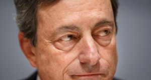 Mario Draghi, president of the European Central Bank: if the ECB is getting it precisely wrong, again, it could be easing at just the time the euro area economy is about to accelerate. Photograph: Bloomberg