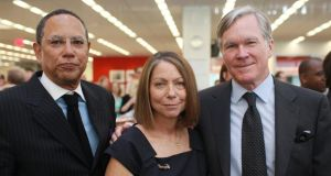 Jill Abramson with her successor Dean Baquet, left, and outgoing executive editor Bill Keller after Keller announced Abramson would succeed him and Baquet would become managing editor of the New York Times on June 2nd, 2011. Photograph: The New York Times