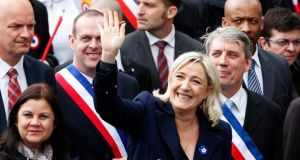 If Marine Le Pen leads her National Front party to victory, she improves her chances of making it to the 2017 presidential run-off. Photograph: Reuters