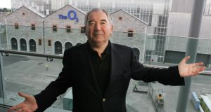 Harry Crosbie in happier times before the opening of the O2 arena in 2010. Photograph: Cyril Byrne