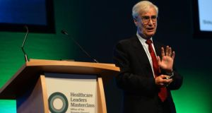 "Professor Robert Kaplan: ""The system needs to be reformed from within and doing it intelligently in ways that enable you to deliver the same or even better quality of care but at lower cost."" Photograph:    , Professor Emeritus, Harvard Business School, speaking at a Masterclass Programme, Driving Change and Achieving Value Bassed Healthcare, in the Convention Centre, Dublin on Thursday.Photograph; Dara Mac Dónaill / The Irish TimesPhotograph;  Dara Mac Donaill  / The Irish Times"