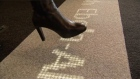 These days, you can read the latest news almost anywhere...even on the floor.Two Dutch companies have collaborated to produce what they call a 'magic carpet', fitted with LED lights designed deliver information from floor level. Video: Reuters