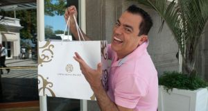 House guest: Marco Antonio di Biaggi, a flamboyant Brazilian celebrity hairdresser, who stays at the Copacabana Palace every weekend