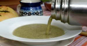 Nettle soup made with nettles foraged by Geraldine Kavanagh of Wicklow Wild Foods. Photographs: David Sleator