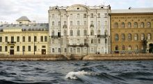 Houses on a canal in St Petersburg