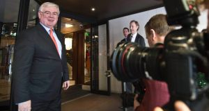Tánaiste Eamon Gilmore's strong signal that he will leave the Department of Foreign Affairs hs been welcomed by Labour colleagues. Photograph: Brenda Fitzsimons / The Irish Times