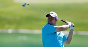 Shane Lowry made a bogey on his closing two holes in a second round of 74 at the Spanish Open at PGA Catalunya Resort in Girona. Photograph: Dean Mouhtaropoulos/Getty Images