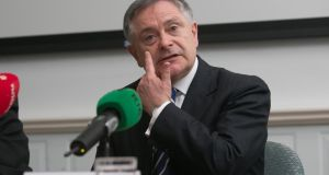 'The centrepiece of this week's  political confetti was a media event hosted by Brendan Howlin on Tuesday to itemise initiatives which will benefit from the Stimulus Package.'  Photograph: Gareth Chaney Collins
