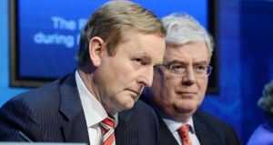 'The question is whether the voters will factor the national interest into their decision on polling day or simply take out their frustration at the ensuing hardship on Fine Gael and Labour. ' Above, Taoiseach Enda Kenny and Tánaiste Eamon Gilmore.Photograph: Alan Betson