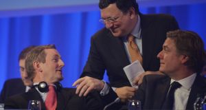 Taoiseach Enda Kenny and José Manuel Barroso, President of the European Commission at the EPP  Congress in  Dublin earlier this year. Photograph: Alan Betson