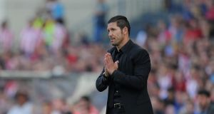 Atlètico Madrid coach Diego Simeone: Photograph: Getty Images