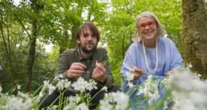 Darina Allen and René Redzepi at the Kerrygold Ballymaloe Litfest food festival in Co Cork yesterday. Photograph: Michael Mac Sweeney/Provision