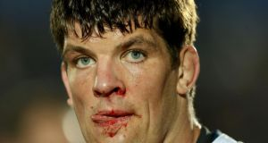 A bloodied Donncha O'Callaghan following last night's Pro 12 semi-final loss to Glasgow at Scotstoun. Photograph: Dan Sheridan/Inpho.