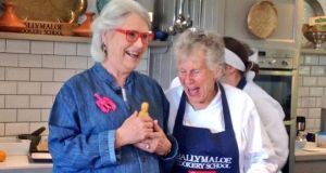 Darina Allen and Diana Kennedy arrives with newly hatched duck chick - 'We're going to call it Diana' - 'Princess Diana, please!'
