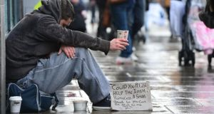 "Social justice campaigner Fr Peter McVerry yesterday warned of a ""tsunami of homelessness"". Photograph: Alan Betson"