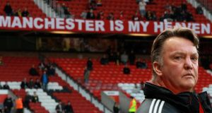 Louis Van Gaal at Old Trafford prior to a Champions League match between Manchester United and Bayern Munich in 2010. Photograph:Alexander Hassenstein/Bongarts/Getty Images