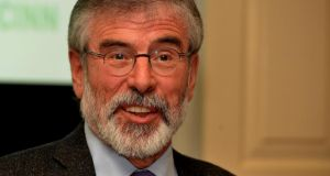 Sinn Fein president Gerry Adams is to travel to the US to  brief political leaders and at the State Department on 'the current concerns about the peace process'. Photograph: David Sleator/The Irish Times
