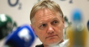 Ireland head coach Joe Schmidt at the announcement of the squad to tour Argentina next month. Photograph: Inpho