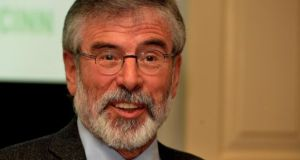 "Sinn Féin leader Gerry Adams has said his party ""can't very well object"" to members of the British Royal Family attending 1916 commemorations in Dublin."