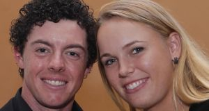 Rory McIlroy with Caroline Wozniacki pictured on November 1st, 2011 in Shanghai, China. Photograph: Ross Kinnaird/Getty Images