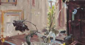 'A Dusty Rose' (€50,000-€70,000)  by Jack B Yeats, one of the pieces from Deepwell, the home of John Reihill which is to be auctioned by Adam's