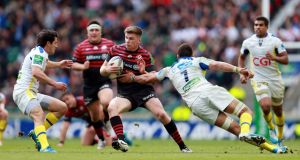 "Owen Farrell. The outhalf says Saracens are determined to get ""better and better"" as they close in on a possible European and domestic trophy double. Photograph: David Davies/PA Wire."