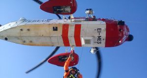 In action: the  Irish Coast Guard Sikorsky S-92 search and rescue helicopter