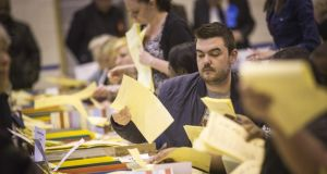 Counting has begun in Northern Ireland after yesterday's local and European elections. Photograph:  Rob Stothard/Getty Images