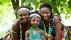 Victoria Osei and her daughters Perfect and Ama Osei at Cork city's celebration of Africa Day. Photograph: Clare Keogh