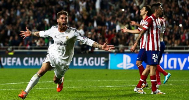 Image result for sergio ramos ucl 2014