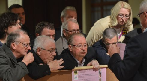 Scrutinising a vote at the count in Cork Cty Hall. Photograph: Michael Mac Sweeney/Provision