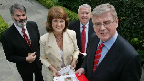 At the launch of Labour Party Lisbon Treaty Campaign in May 2008. Photograph: Matt Kavanagh/The Irish Times