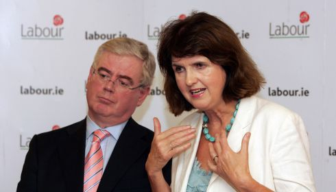 With ... A future contender as leader of the Labour party, in 2009. Photograph: Alan Betson/The Irish Times