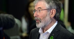 Sinn Féin's Gerry Adams: his position is secure and he is likely to stay on as party leader. Photograph: Eric Luke