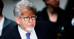 Entertainer Rolf Harris arrives at Southwark Crown Court in London today. Photograph: Andrew Winning/Reuters
