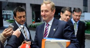 Taoiseach Enda Kenny arriving at the  informal summit of European Union leaders in Brussels yesterday. Photograph: Laurent Dubrule/Reuters