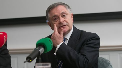 Minister for Public Expenditure and Reform Brendan Howlin would command wide support in the parliamentary party and many TDs have paid tribute to his ability to handle budget negotiations. It could boil down to a straight fight between him and  Joan Burton. Photograph: Gareth Chaney/Collins