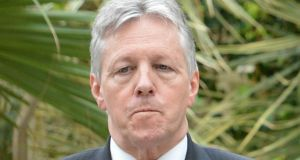 Northern Ireland First Minister Peter Robinson at Farmleigh following a North South Ministerial Council meeting yesterday. Photograph: Alan Betson / The Irish Times